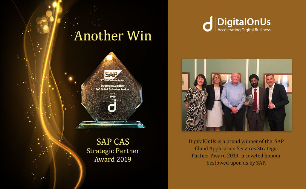 Another Win – SAP Strategic Partner Award 2019